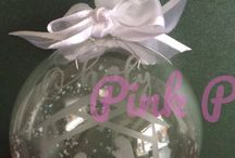 Christmas Ornaments & Gifts - Pink paper Blossoms