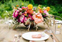 WEDDINGS - Low Centerpieces