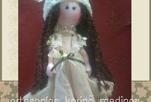 muñecas ARTESANIAS karina Medina