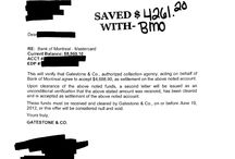 BMO Settlements / BMO Settlements completed at www.CCDR.CA