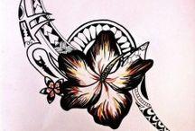 Tatuaż kwiat