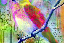 Fugler / Fugler i ulike materialer og teknikker
