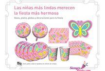 Fiesta de Flores y Mariposa / Ideas y artículos para una fiesta de cumpleaños con Flores y Mariposas, ideal para 10 de Mayo, Día de las Madres.