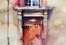 Painting: houses