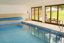 Flossy Brook / Somerset Self catering holiday lodge with integral indoor swimming pool Sleeps up to 14