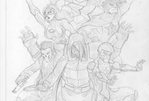 Nexus Concept Art / An art gallery for an upcoming comic project called Nexus. Nexus is drawn by Abbie Theuma and me and it is written by Dylan Sultana.