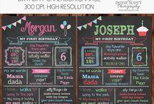 Birthday Chalkboard Posters