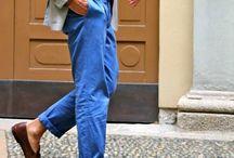 Slacks - blue
