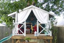 Outdoor playhouses <3 / Playhouses and cute outdoor corners for kids!