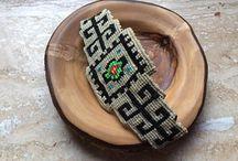 Handmade macrame bracelets & earings