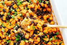 Sweet potato & quinoa casserole