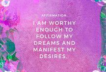 Confessions/Affirmations
