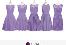 Bridesmaid dress colors