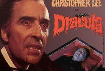 Dracula - Christopher Lee / Christopher Lee als Dracula.  Für mich ist er der beste Draculadarsteller, da er eine irre Austrahlung hatte auch ohne aufwändige Maske.