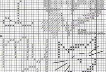 Bordado de punto de cruz / Esquemas y alfabetos