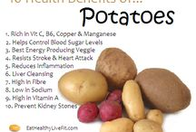 Potatoes / Health benefits of potatoes and some recipes to help you navigate your way through your CSA delivery this month!
