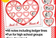 Valentine Music Games and Printables
