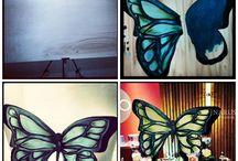 Cumpleaños Inma  / A Inma le encantan las mariposas y las flores, así que le hicimos un photocall y una mesa de duces con estos motivos!
