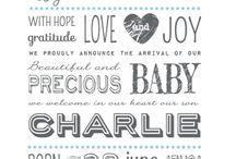 Geboortekaartjes | Typographie