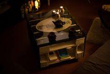 Pallete table DIY / Pallete table Black White Modern Shabby