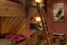 Alpine Bunk Rooms / No good ski lodge is complete without a great bunk room to share stories, laughter and fun times...