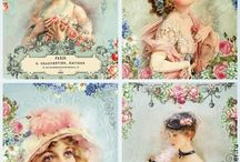 *Vintage Victorian cards & paintings*