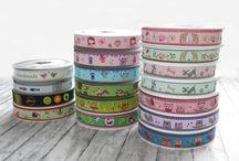 """Ribbons  / Borten & Bänder / Liebevoll, selbstdesignte Webbänder zum Verschönern von Kleidung und vielem mehr. Design by """"feldheim""""."""