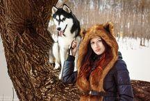 Зимняя прогулка с хаски Айза