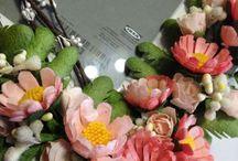 Koza çiçek yapımı / Kozadan çiçek