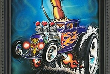 Rat Fink&His Big Daddy Ed Roth ;~}!  / by Donl Weighall