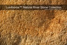 River Stone Bath Collection - Lux4home™ / Natural River Stone Sinks, River Stone Bathtubs, Riber Stone bath sets, River Stone Showetrays