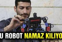 Namaz kılan robot icat etti