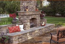 Outdoor Fireplaces / An outdoor fireplace is a great addition to any outdoor living space! They provide a great style and design as well as plenty of warmth as the sun goes down.
