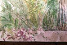 My paintings and sketch book notes / Mixed media sketchbook studies by Jane Knapp