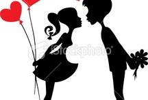 silueta zaljubljeni