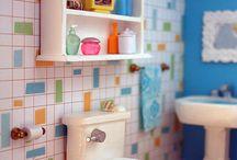 Dolls house bathroom ideas