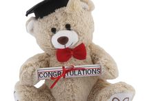 Congrats / Show them how proud you are. Congratulate the graduate on their achievements and hard work with one of these fun Teddy Bears. They make great dorm buddies or companions for the real world and each one arrives with a gift card with your personalized message. These Bears are at the head of their class!