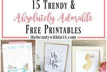 Printable freebies
