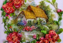 Hus med blomster