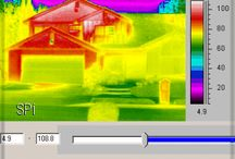 Thermal Images from Home Inspections/Energy Audits / Images of home energy audits and various everyday items.