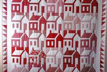 House Quilts / Projects with vintage schoolhouse or house quilt patterns