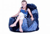 Denim Furniture / Denim furniture made from 100% recycled denim material