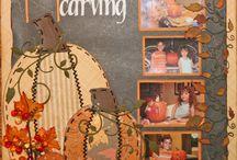 scrapbook: fall layouts