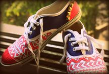 Shoes Your Daddy / Hand painted canvas shoes, made to order.