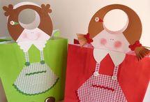 decorating present bags