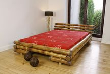 Bamboo Beds / Luxurious Ratan and bamboo indoor seatings