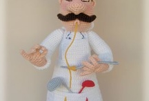 Y Crochet Professional toy / Crochet toys in a uniform of different professions / by LittleOwlsHut