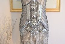 flapper beaded gown