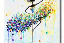 Dancing girl paintings