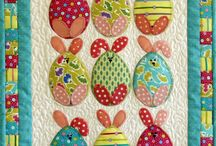 Easter quilt / BUNNY GO ROUND QUILT BLOCK